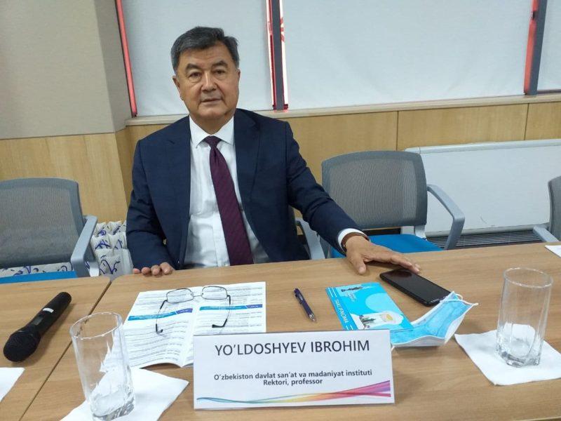 Xalqaro konferensiya sho'ba yig'ilishiga O'zDSMI rektori Ibrohim Yo'ldoshev moderatorlik qildi