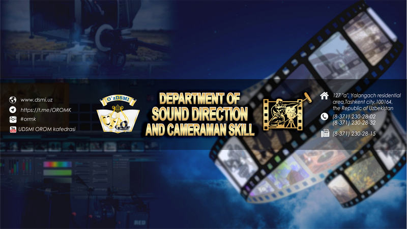 """The chair of """"Sound producing, cinema and television cameraman's art"""""""